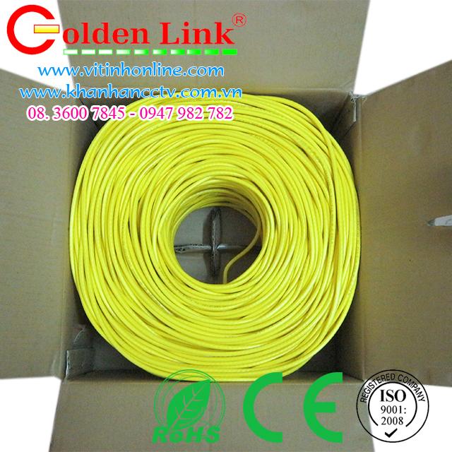 Dây cáp mạng Golden Link UTP CAT6 Vàng 1