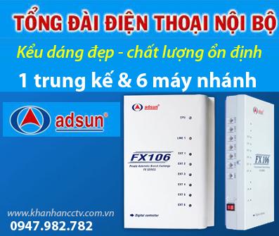 Hướng dẫn lập trình tổng đài Adsun FX106 - FX208