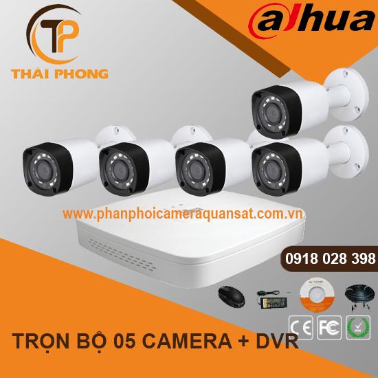 Trọn bộ 5 camera DAHUA 1.0MP CVI cho Gia đình,Cty,Văn phòng,Shop..., đại lý, phân phối,mua bán, lắp đặt giá rẻ